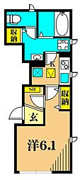 JR京浜東北・根岸線 大井町駅 徒歩6分の賃貸アパート 1階1Kの間取り
