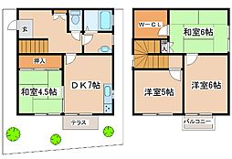 兵庫県明石市上の丸3丁目の賃貸アパートの間取り