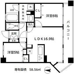クレスタ梅田EASアヴァンツィオ[7階]の間取り