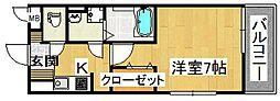 ソーレ・ピアッツァ[106号室]の間取り