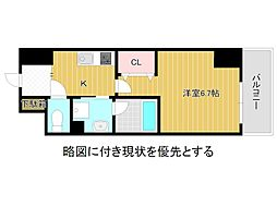名古屋市営名城線 大曽根駅 徒歩3分の賃貸マンション 4階1Kの間取り
