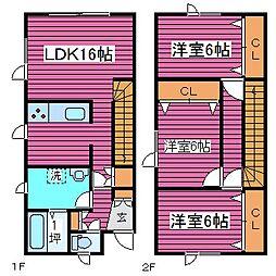 [タウンハウス] 北海道札幌市北区屯田九条2丁目 の賃貸【/】の間取り