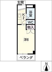 アビニヨン今伊勢[4階]の間取り