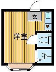 東京都豊島区北大塚2の賃貸アパートの間取り
