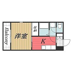 千葉県千葉市中央区中央4丁目の賃貸マンションの間取り