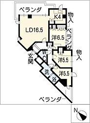 Ns21やごとB棟[3階]の間取り
