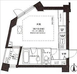 トゥールブランシュ麻布[8階]の間取り