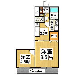 レスポワール21[4階]の間取り