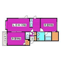 北海道札幌市東区北四十五条東3丁目の賃貸アパートの間取り