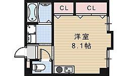 コスタ河堀口[203号室]の間取り