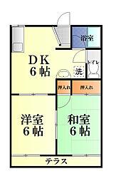 フォルチェーレ湘南[1階]の間取り