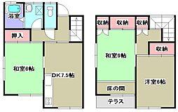[テラスハウス] 千葉県成田市本三里塚 の賃貸【/】の間取り