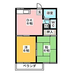 タウニー塚本[2階]の間取り