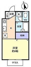 フロンティアI C棟[1階]の間取り