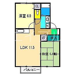 ファミール舟戸D棟[2階]の間取り