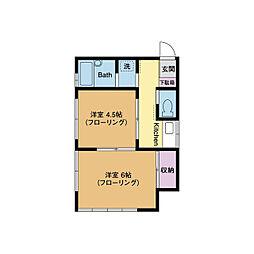 パークハイム厚木[1階]の間取り