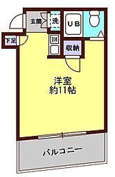 リーヴェルステージ横浜南[603号室]の間取り