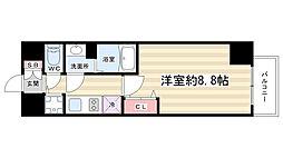 プレサンス京都四条烏丸響[904号室]の間取り