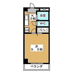 フォレスト東古松[7階]の間取り