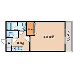 静岡県静岡市清水区新富町の賃貸マンションの間取り