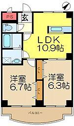 K・Uレジデンス[3階]の間取り