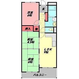 メゾンクリサンテーム 5階3LDKの間取り