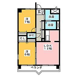 Residential岡崎[4階]の間取り