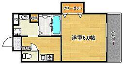 プレサンスフジ[5階]の間取り