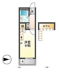 パレス小幡[2階]の間取り