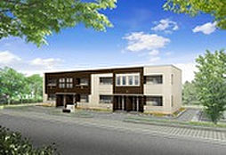 埼玉県春日部市内牧の賃貸アパートの外観