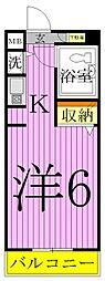 パレドール亀有2[2階]の間取り