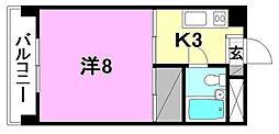 第2パールハイツ[305 号室号室]の間取り