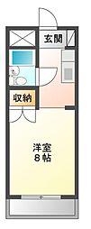 ブルボン浅田[2階]の間取り