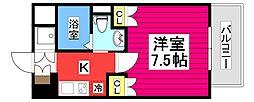 仙台市地下鉄東西線 大町西公園駅 徒歩6分の賃貸マンション 3階1Kの間取り