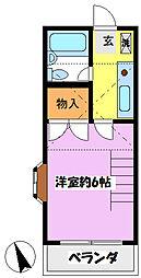 アミティヤマナシ[203号室]の間取り