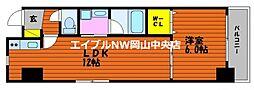 富田町二丁目マンション(仮) 3階1LDKの間取り