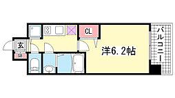lala place神戸西元町[6階]の間取り