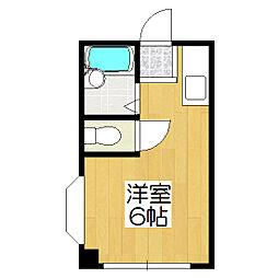 プラム中書島[4階]の間取り