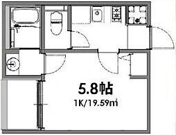 ベルメント東平賀[101号室号室]の間取り
