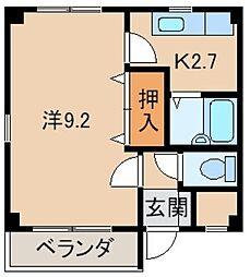 サンハイツ紀三井寺[2階]の間取り