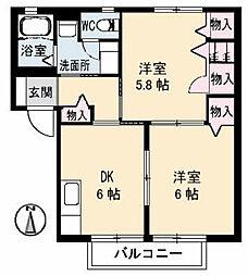 オーガスタA[2階]の間取り