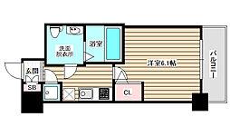 アドバンス西梅田ラシュレ[13階]の間取り