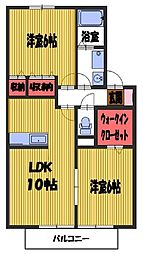 埼玉県さいたま市緑区大間木の賃貸アパートの間取り