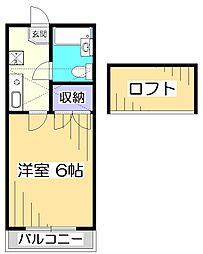 ハイム尾崎小金井[2階]の間取り