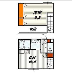ファミユ東山 1階1DKの間取り