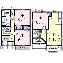 栄区桂台東カーサ・ヒルズ弐番館[101号室]の間取り
