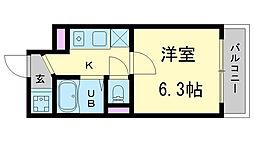 兵庫県神戸市中央区割塚通1丁目の賃貸マンションの間取り