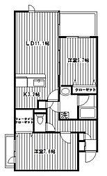 ドルフ南本宿II[303号室]の間取り