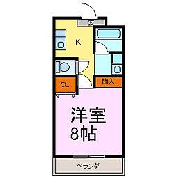 コーポタカラ[2階]の間取り