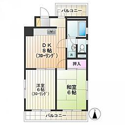 国立グレースマンション[4階]の間取り